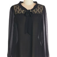 ModCloth Mid-length Long Sleeve Subtly Sophisticated Top