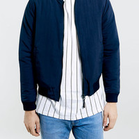 NAVY TAZLON BOMBER - Men's Jackets & Coats - Clothing