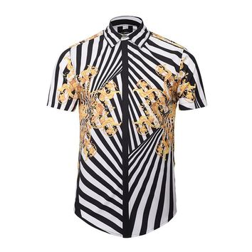 Vert Safari Short Sleeve Button Up Shirt
