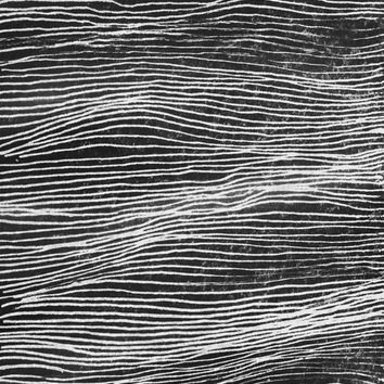 Illustration Stormy sea black and white A3 print