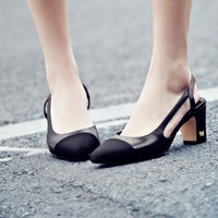 Summer Square Toe Leather Suede Shoes [4919958212]
