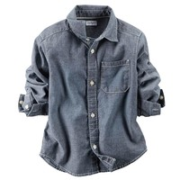 Carter's Chambray Button-Down Shirt - Baby Boy, Size: