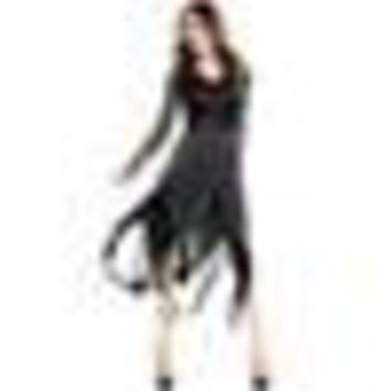 Women Dresses Scary Costumes sexy style thin soft Cosplay clothing Irregular Dresses Ladies Long Sleeve Halloween Fancy Dress
