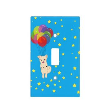 Puppy with Balloons Switch Plate Covers