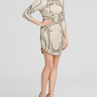 Parker BlackDress - Harley Three-Quarter Sleeve Beaded Mini