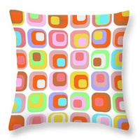 Retro K1 Throw Pillow