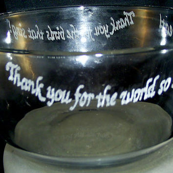Childs Prayer Hand Engraved on Glass Bowl by SeventhChild on Etsy