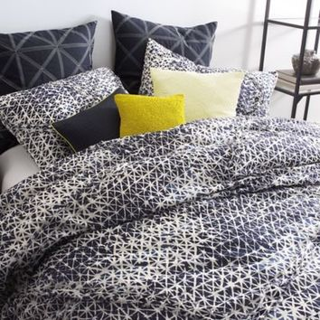 DKNY Gridlock Duvet Cover Set in Navy