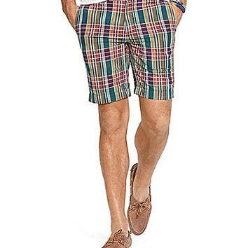Polo Ralph Lauren Big & Tall Classic-Fit Newport Madras Shorts - Madra