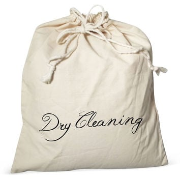 """Dry Cleaning"" Canvas Laundry Bag, Cream, Laundry Bags"