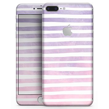 Purple WaterColor Ombre Stripes - Skin-kit for the iPhone 8 or 8 Plus