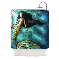 "Mandie Manzano ""Mermaid"" Shower Curtain"