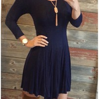 We Both Know Tunic Dress: Blue