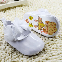 0-18M Infant Baby Girls Flower Princess PU Leather Toddler Crib Shoes Soft Sole First Walkers NW