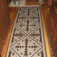 FREE SHIPPING new wool rug handmade model made by me. wool rug 268cm-97cm sided Tell everyone from Bulgaria