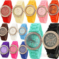 crystal , Geneva , watches, Womens watch, fashion watch, bracelet watch,Quartz ,dial, sport watch = 1956791684