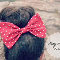 Red Polka Dot Hair Bow