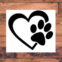Love Dog Decal | Dog Mom Decal | Dog Dad Decal | Dog Family Decal | Love Sticker | Love Decal  | Car Decal | Car Stickers | Bumper | 034