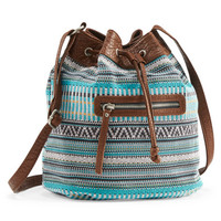 Southwest Woven Bucket Bag