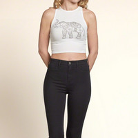 Graphic Scuba Crop Top