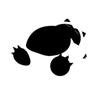 Pokemon Snorlax Silhouette I'd Rather Be Sleeping  Vinyl Car/Laptop/Window/Wall Decal