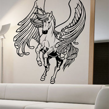 Pegasus Wall Decal Sticker Art Decor Bedroom Design Mural horse greek home decor wall decor animals greek mythology