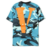 VLONE FRIENDS Blue Camo Shirt