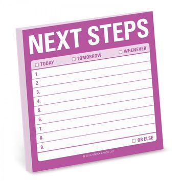 Next Steps Sticky Notepad