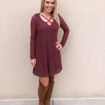 Lead the Way Sweater Dress