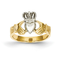 14K gold Two Tone Claddagh Ring, Claddagh Ring, Claddagh Jewelry, Irish Jewelry, Friendship Jewelry, Loyalty Jewelry, Love Jewelry