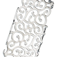 Scroll With Rhinestones Decorative Phone Cover - Gray