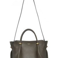 Olive Calfskin Leather and Suede Le Marché Bag