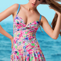 Floral Printed Tank Swimsuit