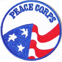Peace Corps Anti No War Sign US Army Military Dove Flag Logo Hippie Retro Biker Tatoo Jacket T-shirt Vest Patch Sew Iron on Embroidered Badge Symbol Custom