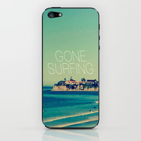 Gone Surfing Vintage California Beach iPhone & iPod Skin by RexLambo | Society6