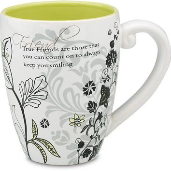 True Friends are those that you can count on to always keep you smiling Coffee Mug