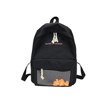 School Backpack trendy SINTIR Fashion Canvas Cute Doll Small Women Backpack Causal Schoolbag Girl s For Women With 5 Ducks Toy Backpacks AT_54_4