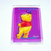 Acrylic Winnie The Pooh Bear and Butterfly Executive Desk Top Paperweight