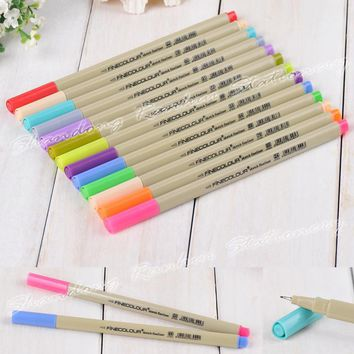 24 P Colors Fineliner Pens Marker Pen 0.3mm Minuteness Sketch Art Marker Water Pen copic markers Drawing Pens Brush Stationery