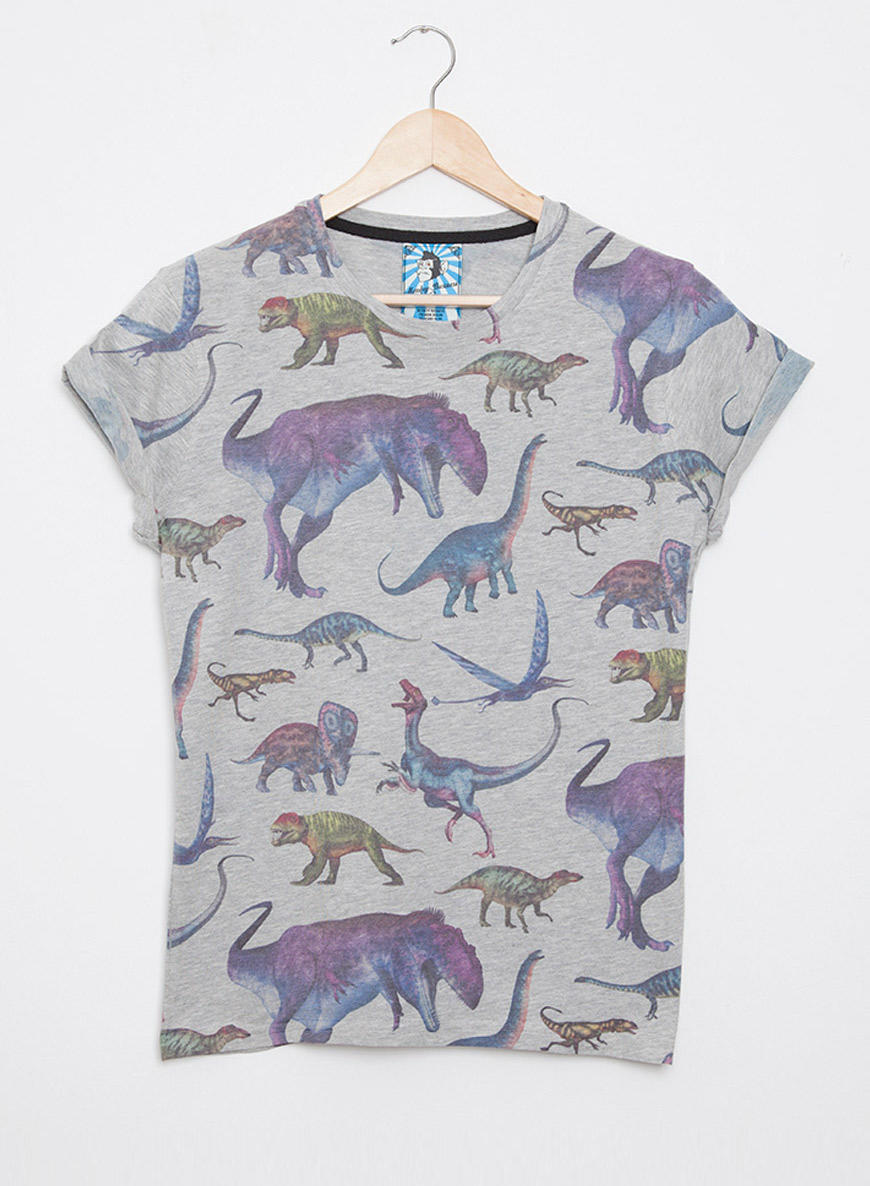 women 39 s all over print dinosaur tshirt from