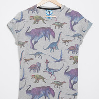 Women's All Over Print Dinosaur TShirt