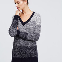 Ombre V-Neck Sweater | Ann Taylor