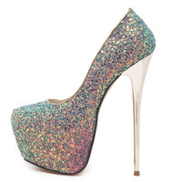 Vogue Bling Giltter Platform 16.5CM Ultra High Heels