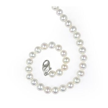 "Honora Sterling Silver 6-7 MM White Freshwater Cultured Pearl 16"" Necklace"