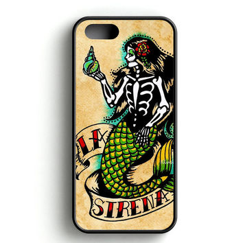 Day of The Dead Mermaid Art iPhone 4s iPhone 5s iPhone 5c iPhone SE iPhone 6|6s iPhone 6|6s Plus Case