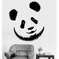 Vinyl Wall Decal Panda Head Bear Zoo Animal Children's Room Decor Stickers Unique Gift (1160ig)