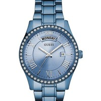 Blue Classic Style Dress Watch at Guess