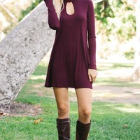Marlee Maroon Dress