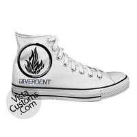 Black Dauntless divergent Logo White shoes New Hot Shoes