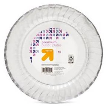 Clear Dinner Plates - 10 in - 15 ct - up & up™
